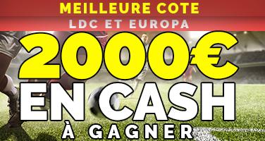 2000 euros de bonus en cash pour vos paris sportifs sur le foot NetBet