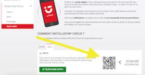 scan code QR Circus app