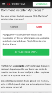 telecharger app ios circus