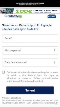 Parionssport bonus
