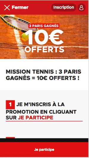 bookmaker 10€ offert