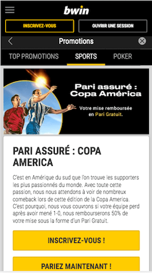 Pari gratuit Copa America