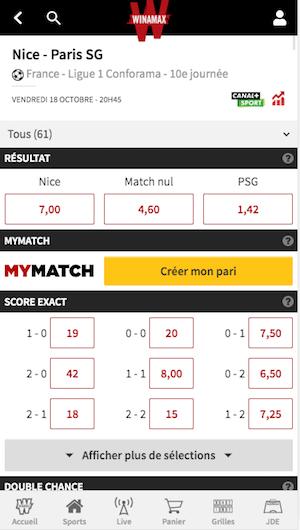 MyMatch Nice vs PSG