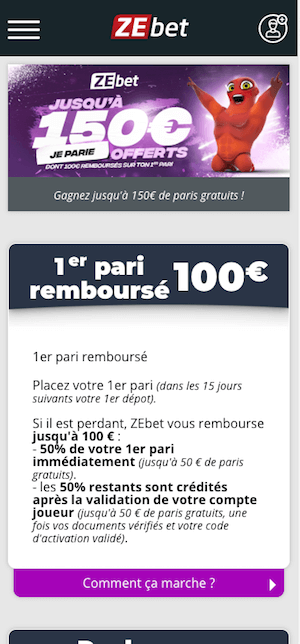 Bonus Zebet France