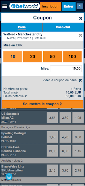 betworld coupon