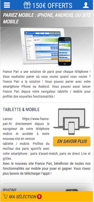 telecharger france pari app