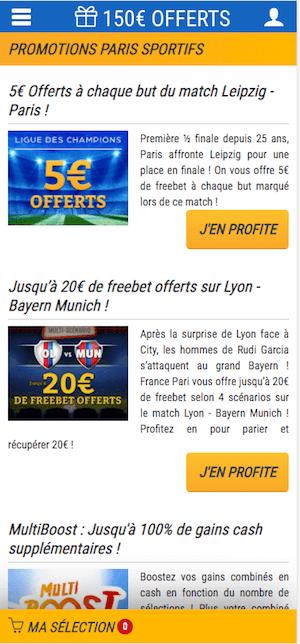france pari promo