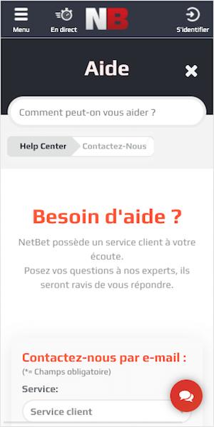 service client netbet
