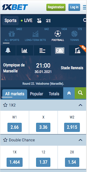 cotes marseille rennes foot