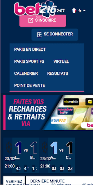 bet216 sur mobile
