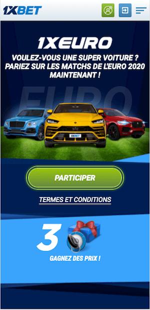 promo euro 2020 avec 1xbet